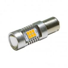 12V 1156 21SMD 2835 желтый (смещенные усы для поворотов) 900Lm