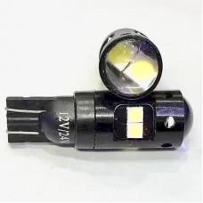 12V T10 8SMD 3030 желтый линза
