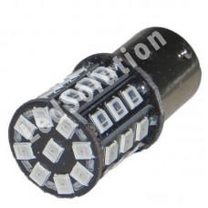 12V 1156 33SMD 2835 желтый смещен контакт
