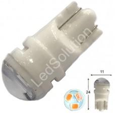 12V T10 (W5W) 3SMD 2835 мини керамика 60Lm ЖЕЛТЫЙ