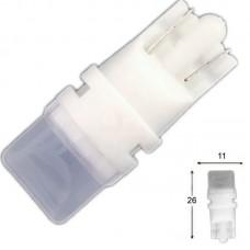 12V T10 (W5W) 3SMD 2835 3D пластик 125Lm БЕЛЫЙ