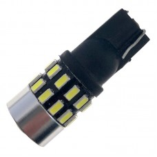 12V T10 (W5W) 30SMD 3014 драйвер линза 370Lm БЕЛЫЙ
