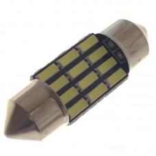 12V AC (C5W) 12SMD 4014 31мм 260 Lm БЕЛЫЙ