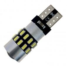12V T10 (W5W) 30SMD 3014 обманка драйвер линза 350Lm БЕЛЫЙ