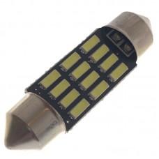 12V AC (C5W) 12SMD 4014 36мм 260 Lm БЕЛЫЙ