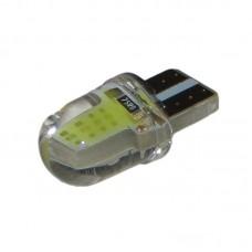 12V T10 (W5W) COB силикон 35Lm БЕЛЫЙ
