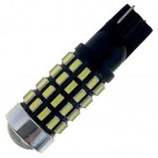 12V T10 (W5W) 54SMD драйвер линза 520Lm БЕЛЫЙ