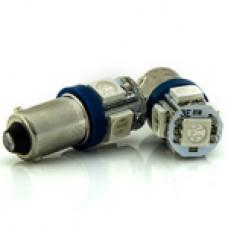 12V T4W (BA9s) 5SMD 5050 CИНИЙ