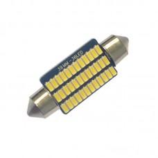 12V AC (C5W) 36SMD 3014 39мм драйвер 260Lm БЕЛЫЙ