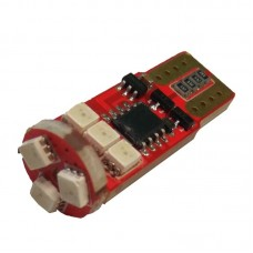 12V T10 (W5W) 9SMD 2835 мультицвет флеш RGB
