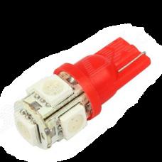12V T10 (W5W) 5SMD 5050 КРАСНЫЙ