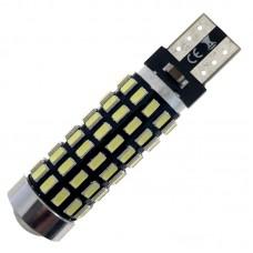 12V T10 (W5W) 78SMD 3014 драйвер обманка линза 600Lm БЕЛЫЙ