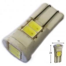 12V T10 (W5W) 6SMD 5630 Керамика 125Lm БЕЛЫЙ
