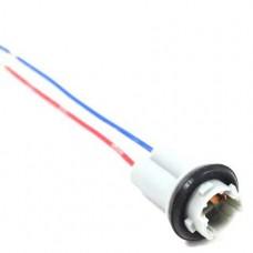 Разъем на лампу W5W/T10 пластик (медь)