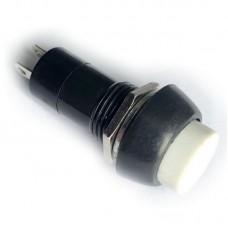 Кнопка с фиксацией 12мм (PBS-11A) Белая
