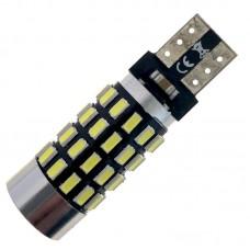 12V T10 (W5W) 54SMD 3014 драйвер обманка линза 640Lm БЕЛЫЙ