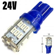 24V T10 (W5W) 30SMD 3014 80Lm СИНИЙ