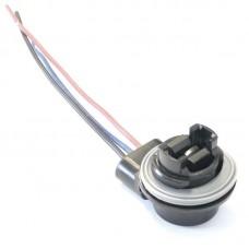 Разъем на лампу P27/7W/3157 пластик (медь)