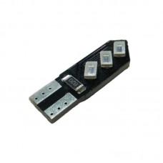 12V T10 (W5W) 6SMD 5630 (черная плата PCB) СИНИЙ