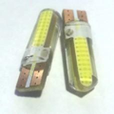 12V T10 (W5W) COB большой силикон 95Lm БЕЛЫЙ
