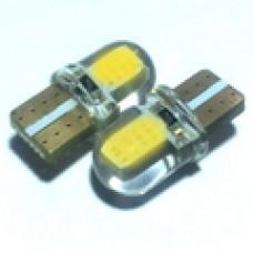 12V T10 (W5W) COB силикон 115Lm ЖЕЛТЫЙ
