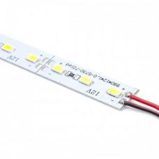 12V Полоса алюм. 5630 72smd (resistor 470) 10 mm 4300K (1 МЕТР) ТЕПЛ.БЕЛЫЙ