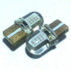 12V T10 (W5W) COB силикон 50Lm ЗЕЛЕНЫЙ
