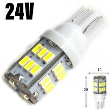 24V T10 (W5W) 30SMD 3014 120Lm БЕЛЫЙ