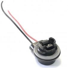 Разъем на лампу P27W/3156 пластик (медь)