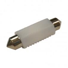 12V AC (C5W) 2SMD 3030 31мм керамика 200Lm БЕЛЫЙ