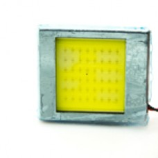 10-30V Плата COB 48LED (T10,T4w,AC)  40х40мм белый 580Lm