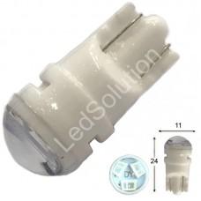 12V T10 (W5W) 3SMD 2835 мини керамика 65Lm СИНИЙ