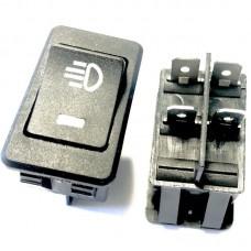 Кнопка вкл/выкл ПТФ с LED индикацией. Белая