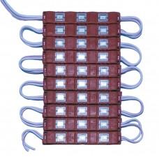 24 модуль 3SMD 5630 0,5W в пластиковом корпусе КРАСНЫЙ
