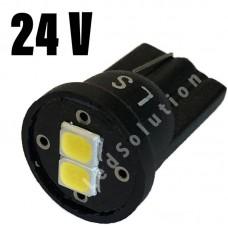 """24V T10 (W5W) 2SMD 2835 180лм """"LS"""" БЕЛЫЙ"""