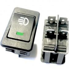 Кнопка вкл/выкл ПТФ с LED индикацией. Зеленая
